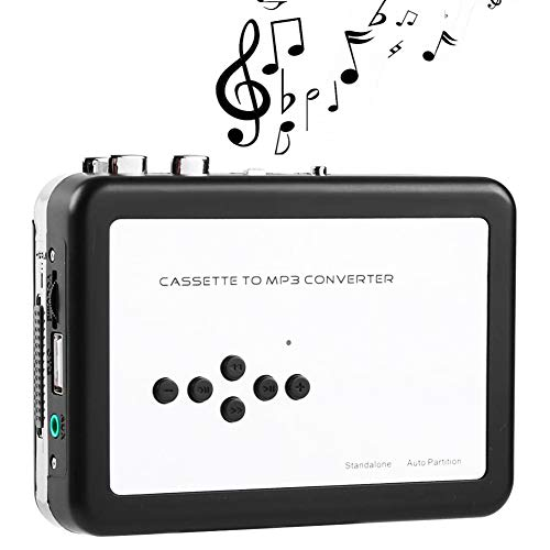Cassette Tape to MP3 Digital Converter, No PC Required, Capture Tapes to USB Flash Drive TF Card Directly, Portable Cassette Player, Convert Walkman Tape Cassettes to iPod Format