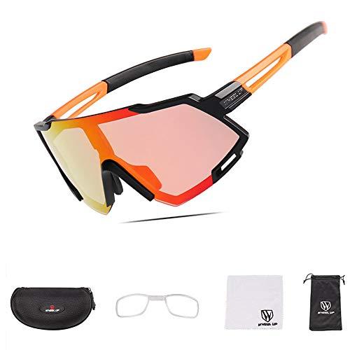 NACY Fahrradbrille mit polarisierter Vollbeschichtungslinse/photochrome UV400-Sonnenbrille für Rennradrennen,Rennen,Wandern,Sport,Brillenbrillen