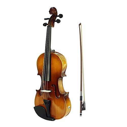 LOIKHGV Geige- 4/4 Full Size Akustische Elektrische Violine Geige Kit Massivholz Fichte Face Board mit Bogen Hard Case Schulterstütze Audiokabel, wie abgebildet