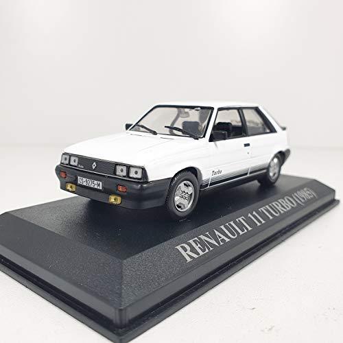 Desconocido 1/43 Auto Coche Car Modelo R11 Turbo Blanco 1985 ALTAYA