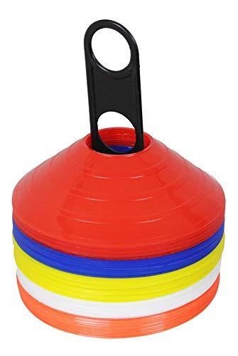 Markierungsscheiben 50er Set 5 Farben inkl. Halter   Markierungshütchen   Markierungsteller   Hütchen   Training f. Fußball Fitness   Agility f. Hunde