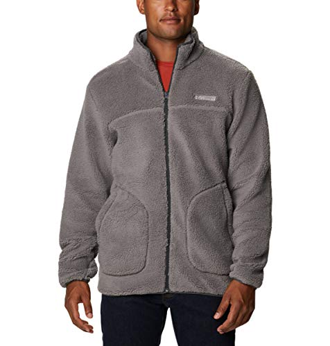 Columbia Forro polar para hombre, Rugged Ridge II Sherpa, gris ciudad/tiburón, XL