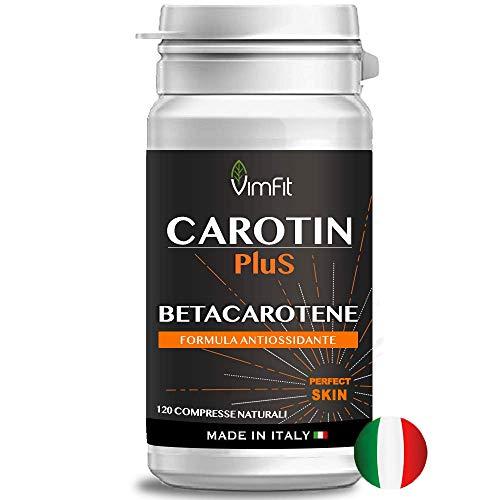 Vimfit Carotin Plus Integratore Betacarotene per Abbronzatura - 120 compresse Made In Italy
