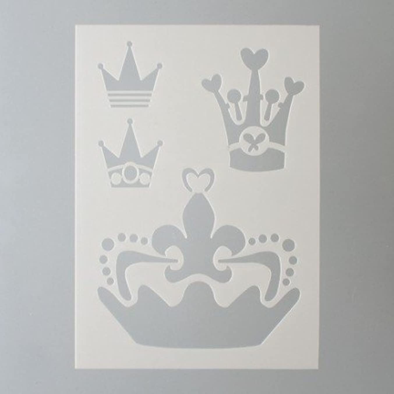 Efco Stencil Crowns/4 Designs Din, Plastic, Transparent, A 5