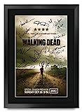 HWC Trading The Walking Dead A3 Gerahmte Signiert Gedruckt