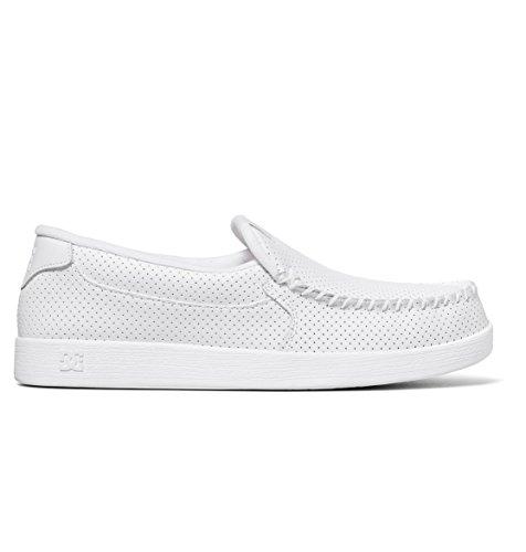 DC Men's Villain Skateboarding Shoe, White, 10 D D US