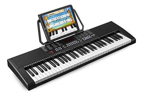 Max KB4 - Teclado electrónico piano de 61 teclas, pantalla LCD, función...