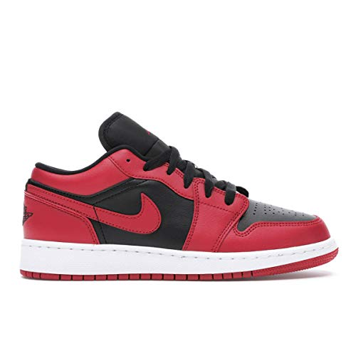 Nike Jungen AIR Jordan 1 Low (GS) Basketballschuh, Gym Red Black White, 40 EU