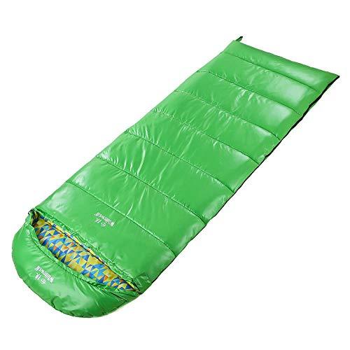 DLSM Saco de Dormir cálido al Aire Libre Saco de Dormir de algodón de Seda de imitación Multifuncional 1000g Aislamiento térmico cálido Saco de Dormir Impermeable a Prueba de Viento Esencial para