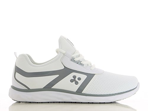 Oxypas Fashion, Luca, antistatischer (ESD) Arbeitsschuh für Herren, Farbe: Light Grey, Größe: 45