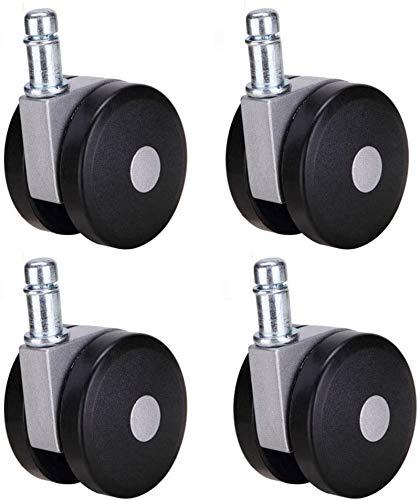ZAMAX Swivel Caster Wheels, 4pcs Strong Heavy Boss Chair Castor Accessory Lift Computer Chair Wheel Reinforced Castors Wheels casters