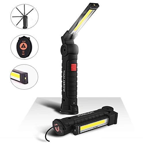 Linterna de Trabajo Recargable 1800mAh, lámpara de Inspecci