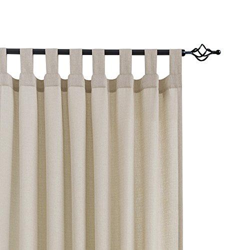 CKNY Vorhänge Sheer Viole Gardinen Für Schlafzimmer Mit Schlaufen 2 Stücke Wohnzimmer 175 x 140 cm (H x B) 2er-Set Taupe