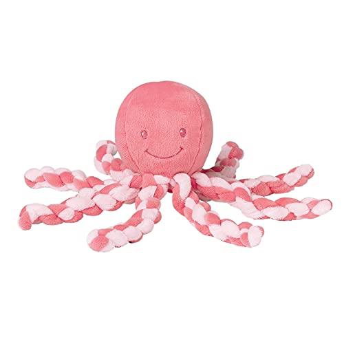 Nattou Kuscheltier Oktopus, Für Neugeborene und Frühchen, 23 cm, Rosa