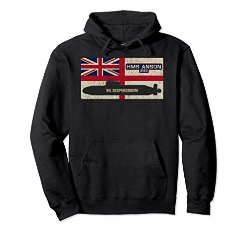 HMS Anson S123 U-Boot Royal Navy Flag Geschenk Pullover Hoodie