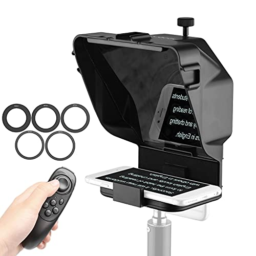 Mini Teleprompter portatile Mobile per Youtube Tiktok Video Live Streaming, notizie discorso dal Vivo per fotocamere DSLR telefono cellulare (Color : For Camera+Phone~Without Stand)