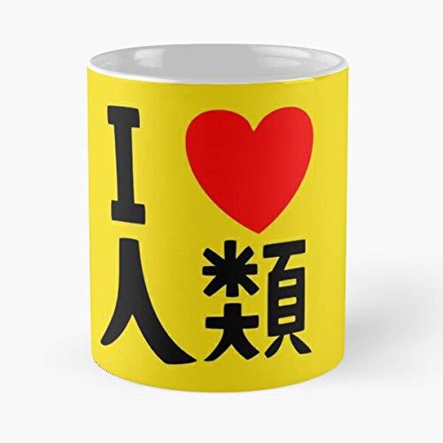 No Anime Game Love Humanity Cosplay Sora Life - Best 11 oz Kaffeebecher - Taza de café de regalo de moda superventas negra, blanca, cambia de color 11 onzas, 15 onzas para todos