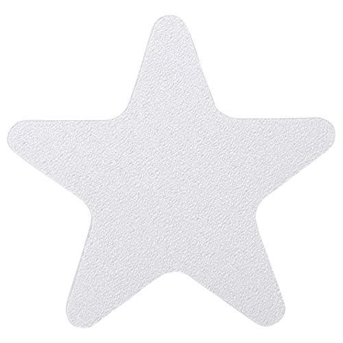iixpin 24 Stück Anti-Rutsch Sticker für Badewanne, Stern Form und selbstklebend, Dusche und Bad, Antirutsch Aufkleber Antirutschmatte Transparent One Size