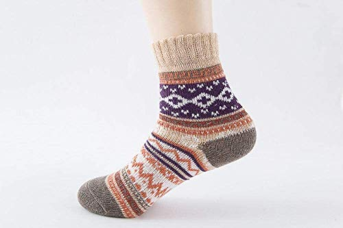 Simplicidad con estilo 5 pares de calcetines mujeres y hombre invierno espesado cálido cálidos calcetines damas calcetines calcetines calcetines de toalla calcetines de las señoras calcetines