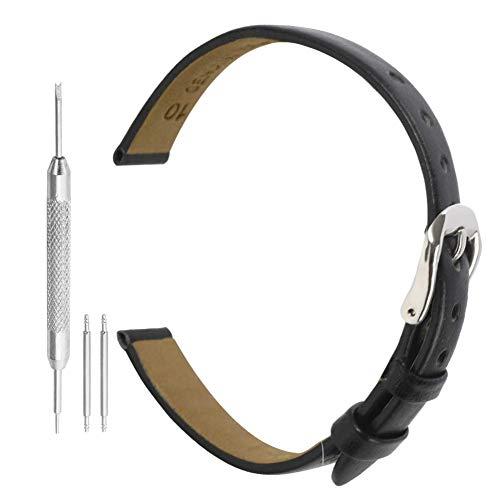 Cinturino Sottile Orologio Donna 7mm Braccialetto Argento Guardare La Sostituzione Di Banda Cinturino In Pelle Orologio