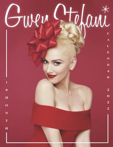 Gwen Stefani Calendar 2022: 2022 music Calendar-18 months-Calendar planner - Music Pop Singer Songwriter Celebrity