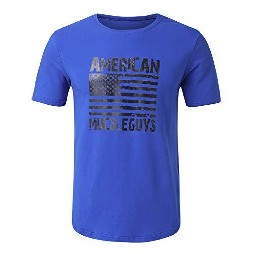 AmyGline AmyGline Herren T Shirt Top Neu-Männer Mode Rundhals Ellipse Saum Casual Sport T-Shirt Kurzarm Bluse Kurzarmshirt Sweatshirt Pullover Poloshirt Hemd