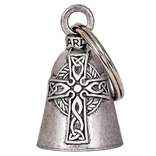 Hot Leathers BEA1053 Silver Celtic Cross Guardian Bell