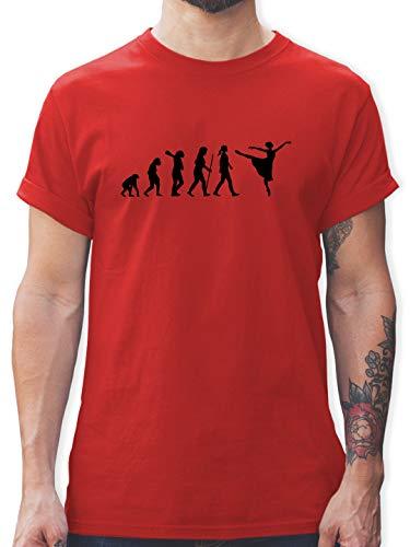 Evolution - Ballett Evolution Arabesque - S - Rot - Ballett Tshirt - L190 - Tshirt Herren und Männer T-Shirts