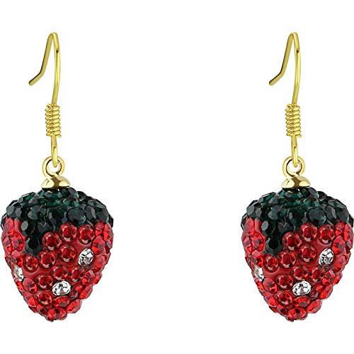 Stud Drop Dangle Earrings Jewelry for Girls Women Cute sweet red strawberry earrings gift idea for girlfriend/wife/daughter