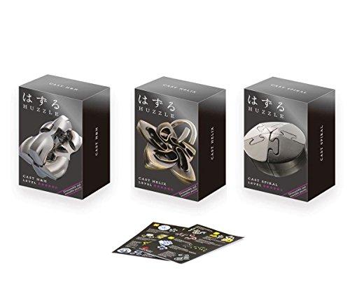 Cast Huzzle Puzzle Geschenkset No.5 Helix, Spiral, HundH- SG 5 und dt. Cast Katalog