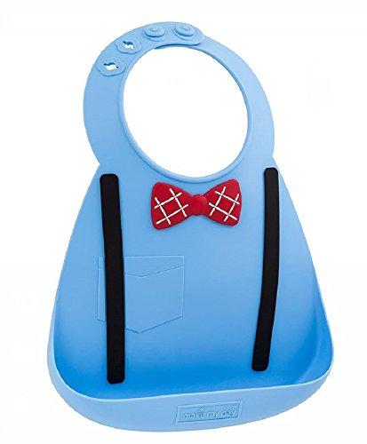 メイクマイデイ油が落ちるシリコンビブ【日本正規品】食洗機で洗えるシリコン100%のやわらかビブ6ヵ月~3歳BB101スカラーブルー