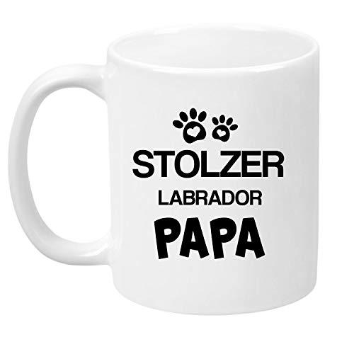 TassenTicker® - ''Stolzer Labrador Papa'' - Kaffeetasse - Hunde-Tasse - Hundebesitzer - Herrchen - Geschenkidee - Weiss