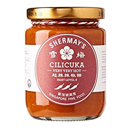 Shermay's Singapore Fine Food Cilicuka Very Very Hot (Peranakan Chilli Sauce) Chilli Sauce, 240 ml