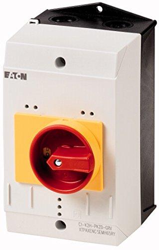 Eaton 219655 Isolierstoffgehäuse CI-K2, H x B x T = 160 x 100 x 130 mm, für Pkz0, Drehgriff, rot/gelb