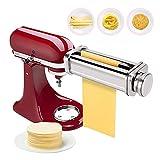 Máquina para hacer pasta de acero inoxidable, accesorio para cortadora de pasta, piezas de máquinas de pasta, accesorio para robot de cocina, pasta casera, espaguetis, fettuccini (pasta normal)