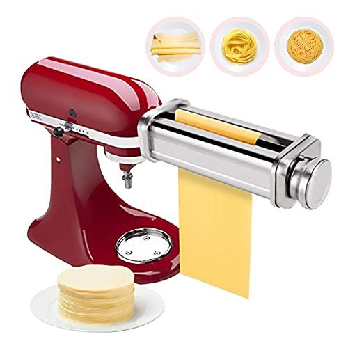 Macchina per la pasta in acciaio inox, accessorio per tagliare la pasta e parti della macchina da cucina, accessorio fatto in casa, pasta spaghetti fettuccini, macchina per la pasta(pasta normale)