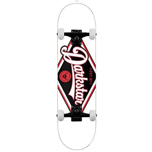 Darkstar Skateboards Diamond RHM Complete Skateboard, Rot, 21 cm