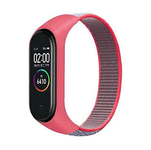 DANGAO Nylon Loop Strap Sport Transpirable Reemplazo de Pulsera Smart Watch Pulsera Accesorios (Band Color : 15, Band Width : Mi Band 3 4)