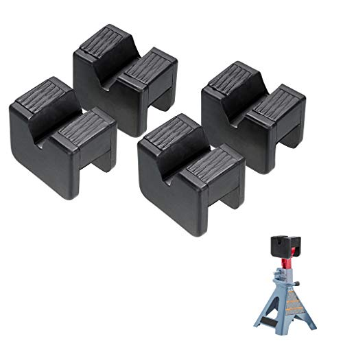 Skelang 4 Pcs Jack Pad Adapter Rubber Slotted Universal for Jack Stand, Frame Rail Jack Pinch Weld Protector