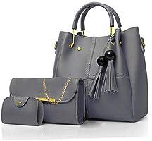 Envias Women's Handbag (Set of 3, Grey)