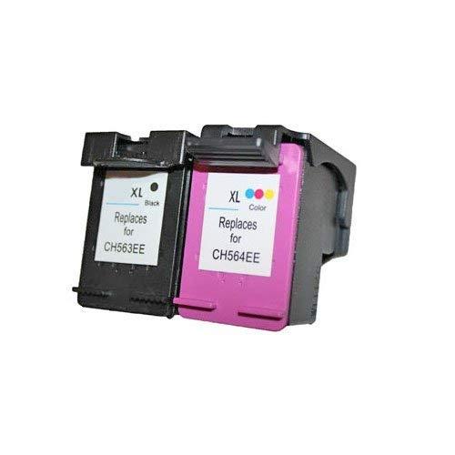HP 62XL zwart C2P05AE, 62XL kleur C2P07AE kleur Set van 2x alternatief - compatible patroon voor HP 62XL (1x zwart & kleur) Toners-kopen_nl