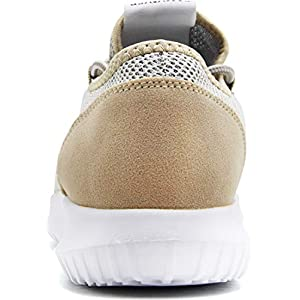 CAMVAVSR Men's Sneakers Fashion Slip on Lightweight Breathable Mesh Soft Sole Walking Running Jogging Shoes for Men Gold Size 12