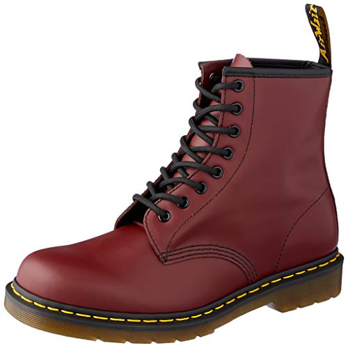 Dr. Martens 1460 Smooth, Stivali Unisex - Adulto, Rosso (Cherry Red), 38 EU