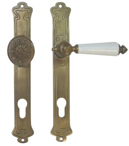 Haustür Beschlag Jugendstil Art Deco Messing antik #29-2-AW-92