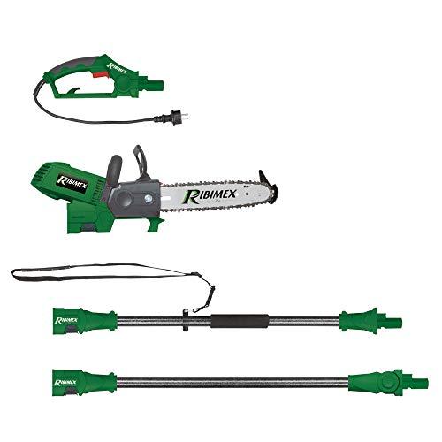 Ribimex PRTRE300R RIBPRTRE300R Elettrosega Estendibile Max 4.5 Metri, Verde, 100X60X50 Cm