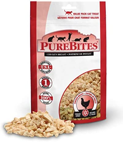 PureBites Freeze Dried Chicken Breast Cat Treats, Made in USA