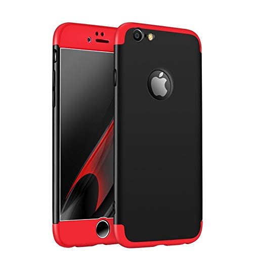 iPhone 6s Case, iPhone 6 4.7' Case, Heyqie 360 Degree Full Protection 3 in 1 Ultra Slim Anti-Scratch Shockproof Smoothly Protective Hard PC Cover Case For Apple iPhone 6 6s 4.7', Red&Black