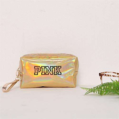 Mode étanche Laser Sacs cosmétiques Femmes Make Up Bag PVC Pouch Wash Sacs Voyage Organisateur Cas Toilette (Color : Yellow Square)