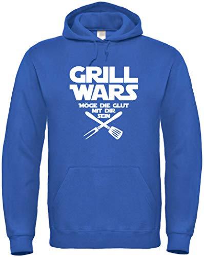 Textildruck Universum Hoodie Grill Wars Möge die Glut mit dir Sein S bis 5XL (L, Royalblau)