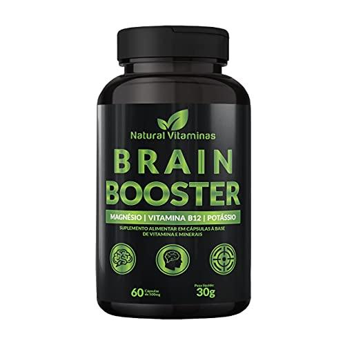 Complexo B, Biotina, Magnésio, Cálcio, Zinco e mais Vitaminas para Memória e Concentração - 1 Pote com 60 Cápsulas de 500mg - Natural Vitaminas